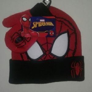 🌸NEW🌸 Spider-Man hat and mitten set